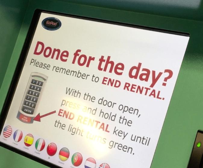 Disneyland Locker Rental Language