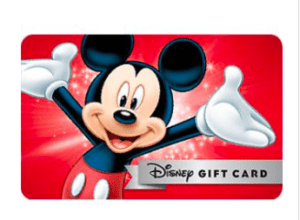 Disney gift card 5% off