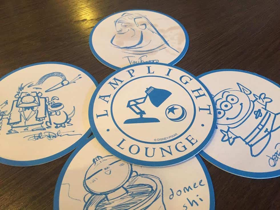 Lamplight Lounge coasters