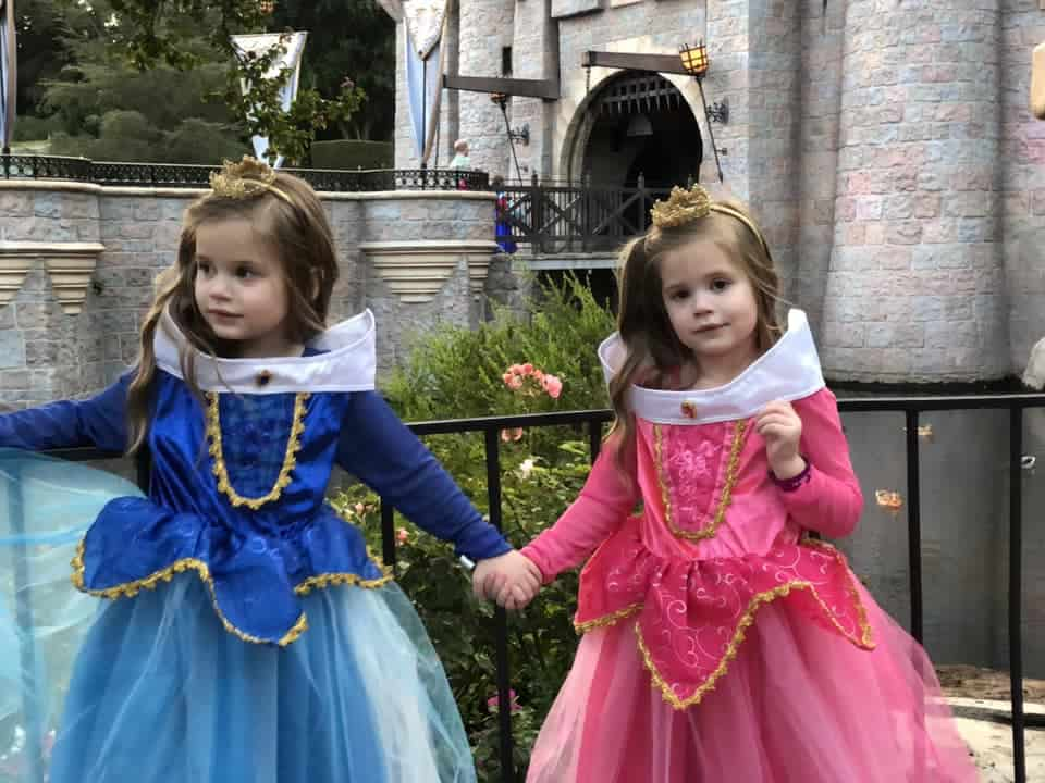 Kids in costume at Disneyland