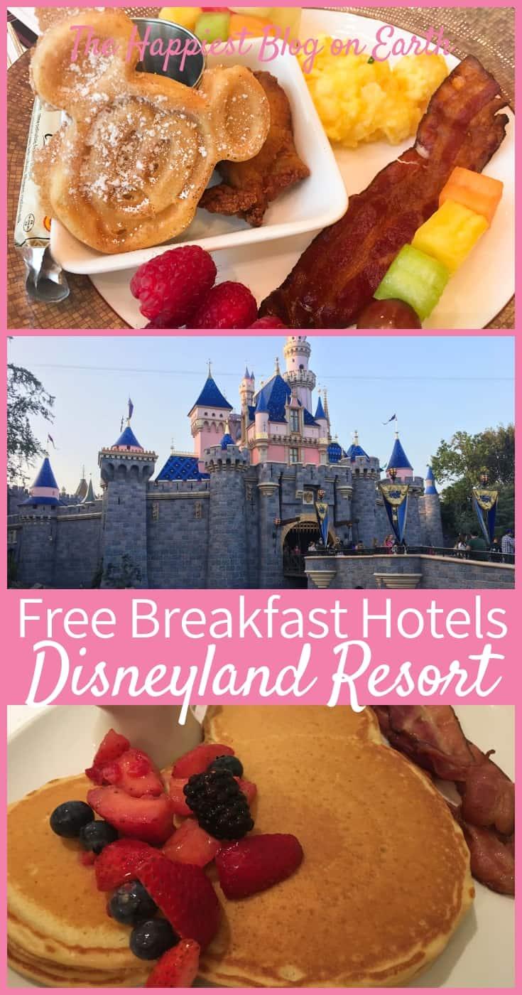Hotels with free breakfast Disneyland