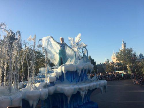 frozen disney parade