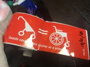 Stroller as wheelchair Disneyland