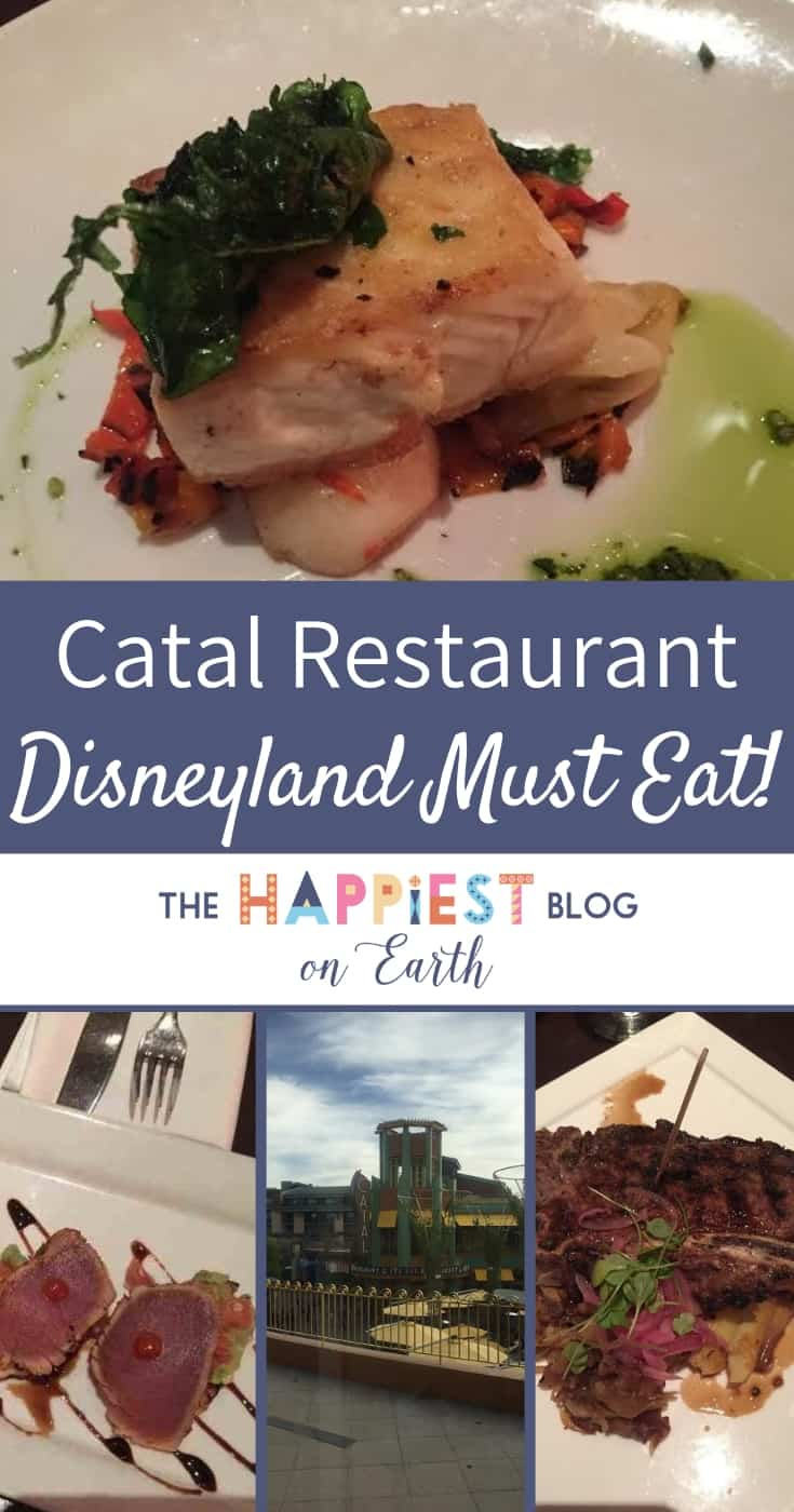 Catal Disneyland Downtown Disney, a must eat for date night or fine dining at Disneyland Resort. #DisneylandTips #DisneylandFood #DisneylandBlog