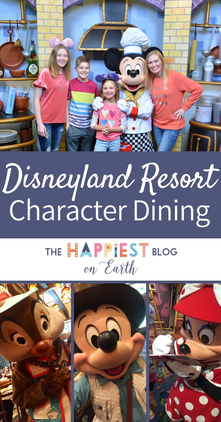 Disneyland Resort character dining, where to eat to meet your favorite Disney characters for coveted one on one time. #DisneylandFood #Disneyland #DisneyCharacters #DisneylandTips #DisneylandBlog