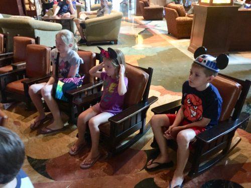 Grand Californian Lobby kid chairs