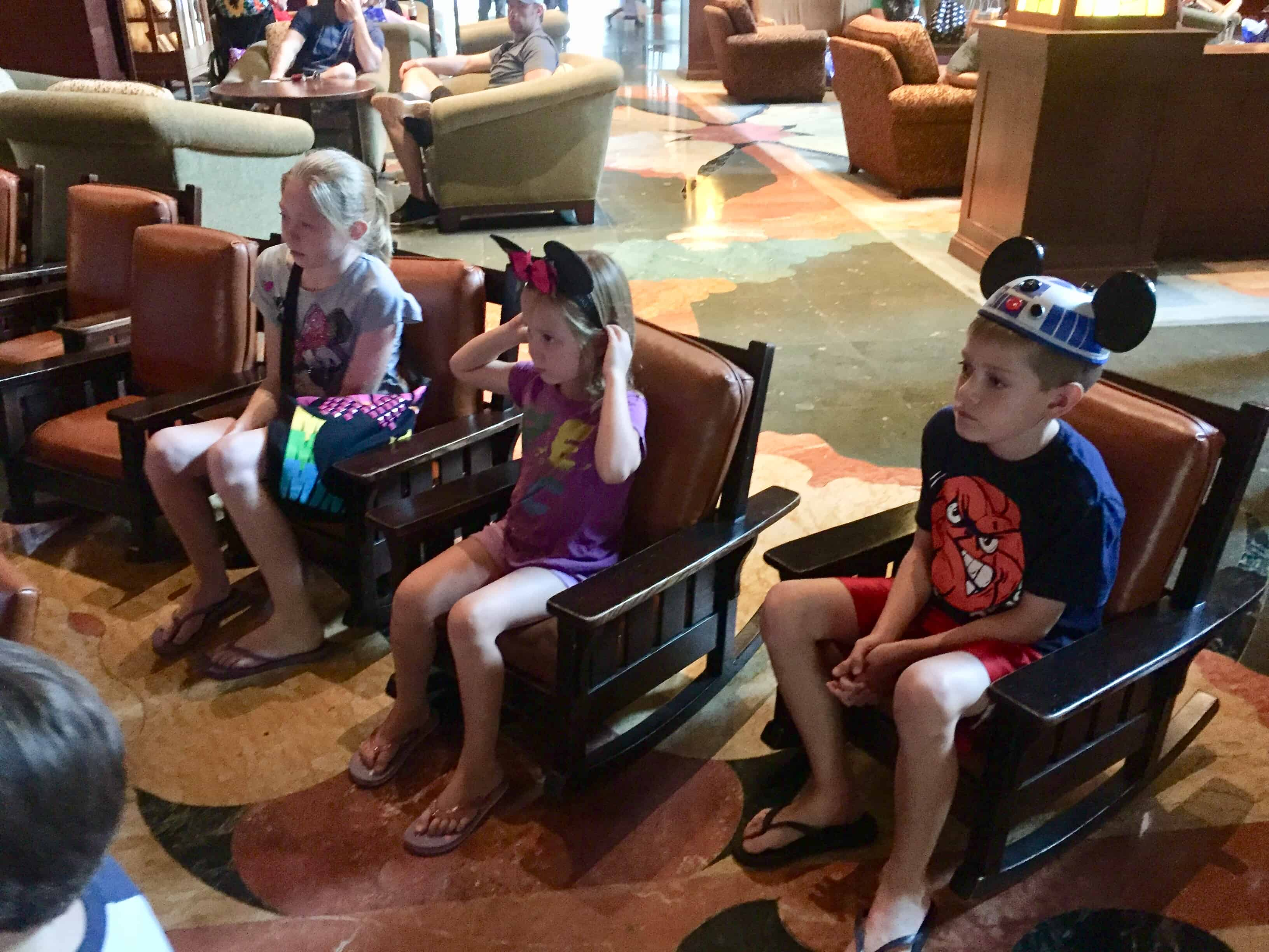 Grand Californian Lobby kid chairs