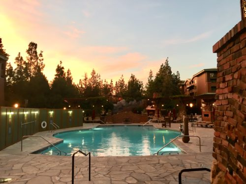 Grand Californian Pool sunrise
