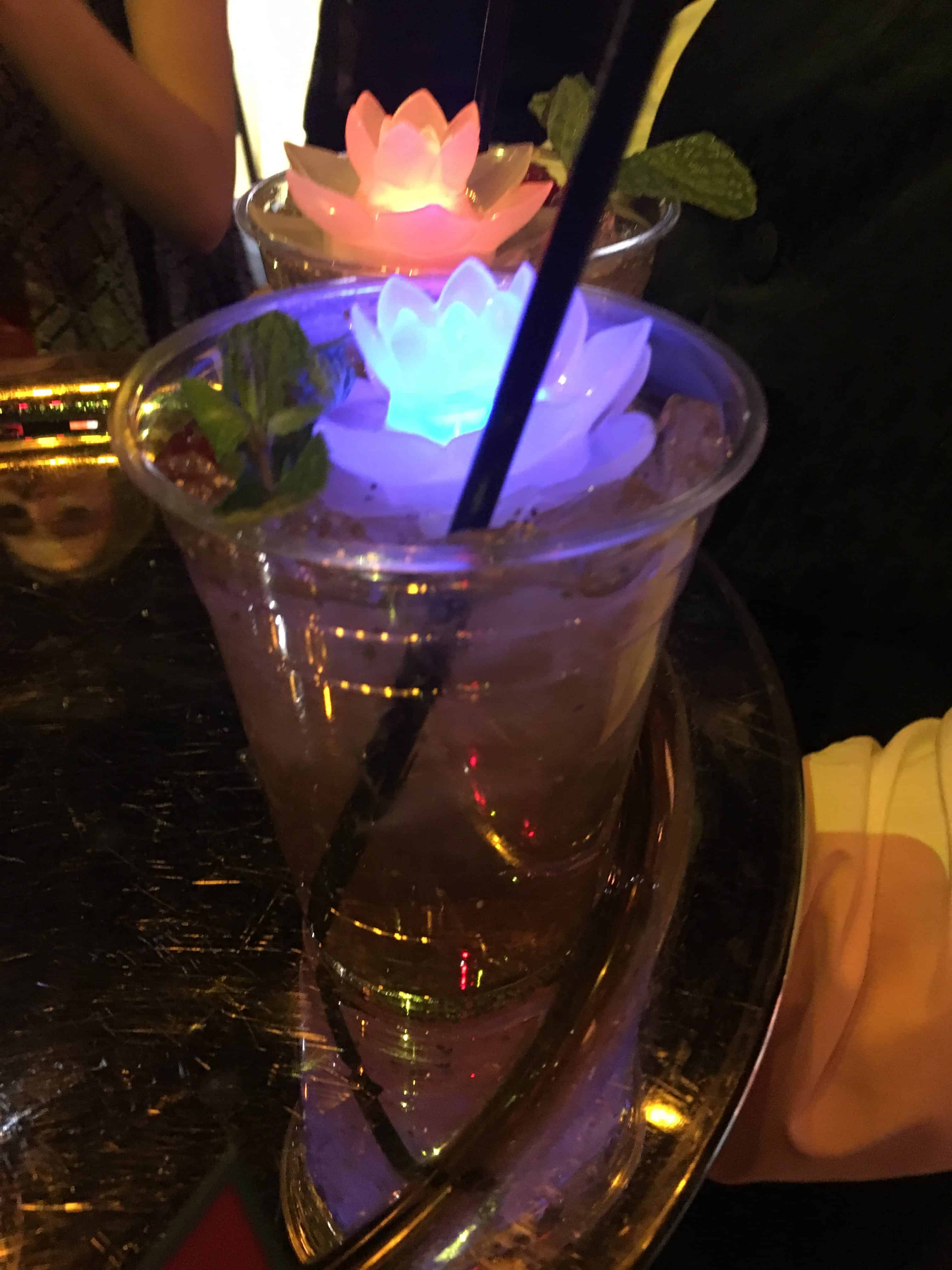 Raspberry lychee chia tea