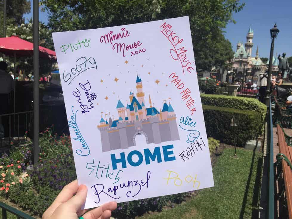 Disneyland autograph tips