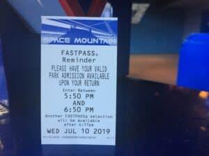 Disneyland fastpass reminder
