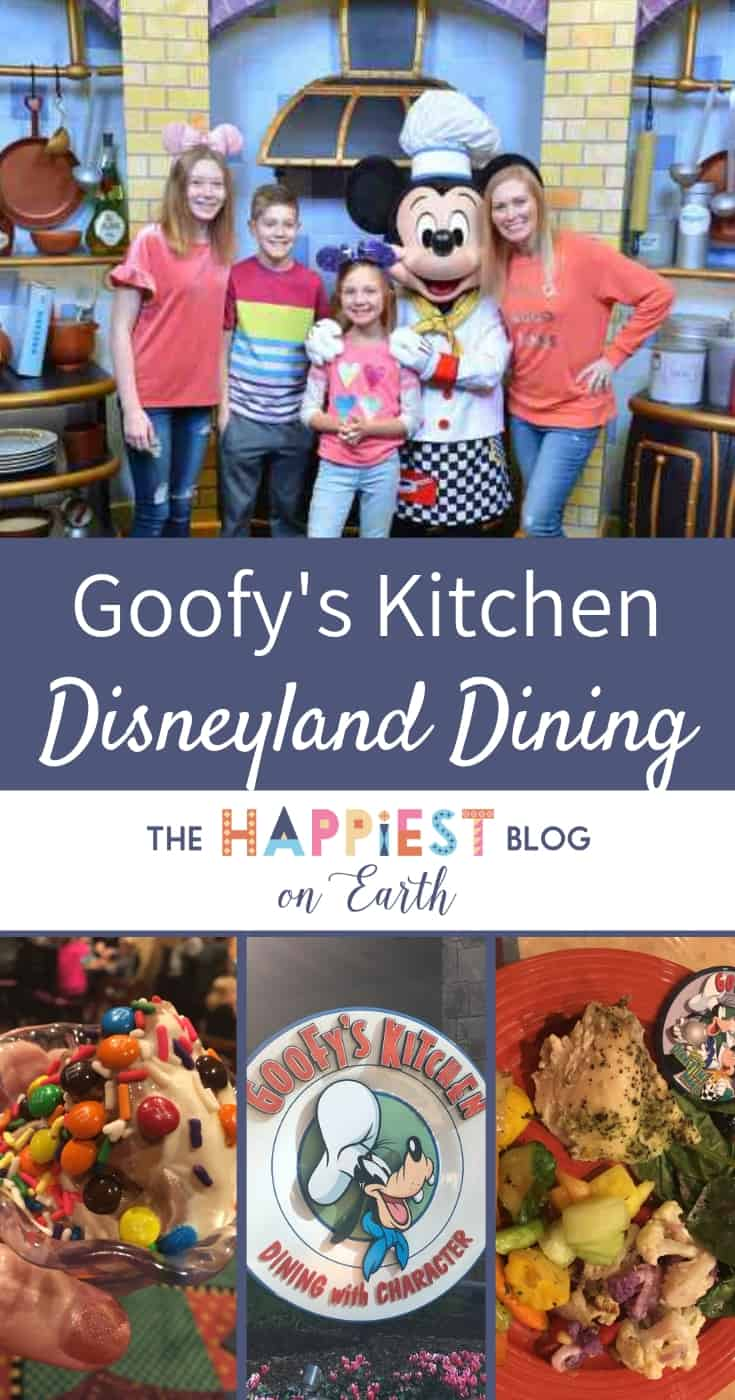 Goofy's Kitchen character dining at Disneyland Resort with both breakfast and dinner options. #DisneylandTips #Disneylandfood