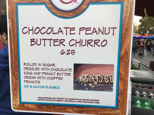 Chocolate Peanut Butter Churro