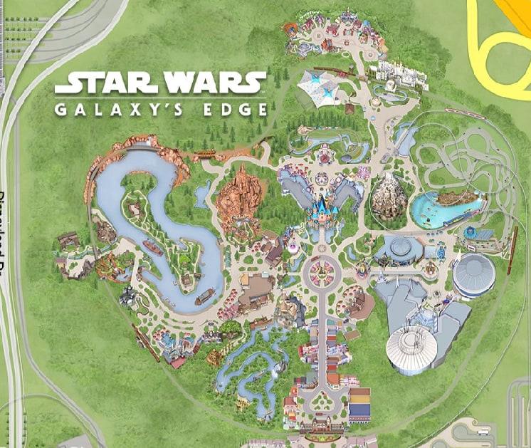Disneyland Star Wars Map