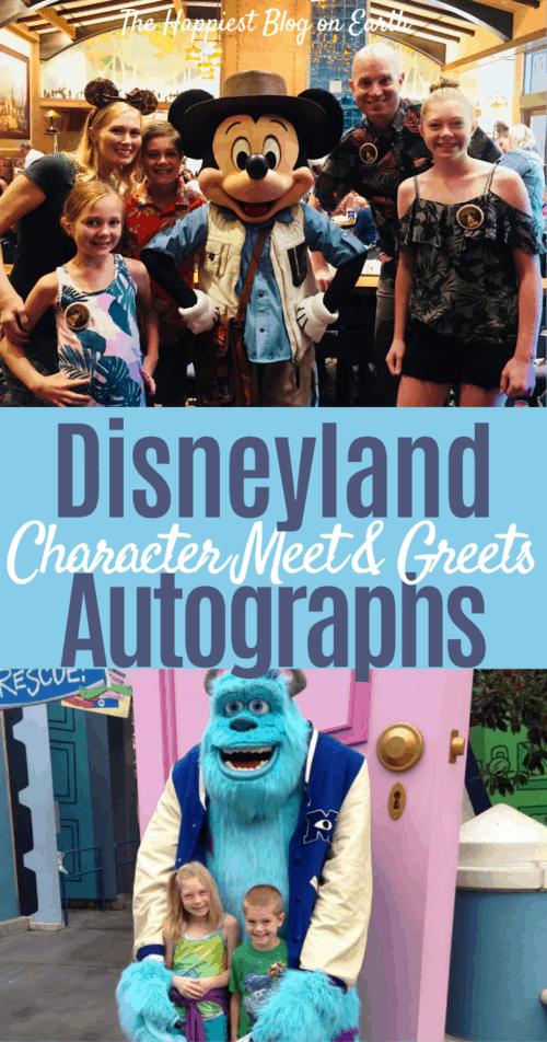 Disneyland autographs