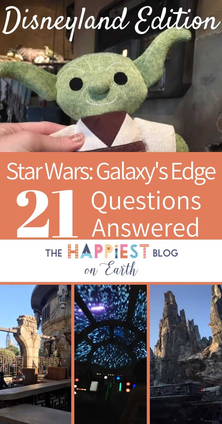FAQ Disneyland Star Wars Galaxys Edge