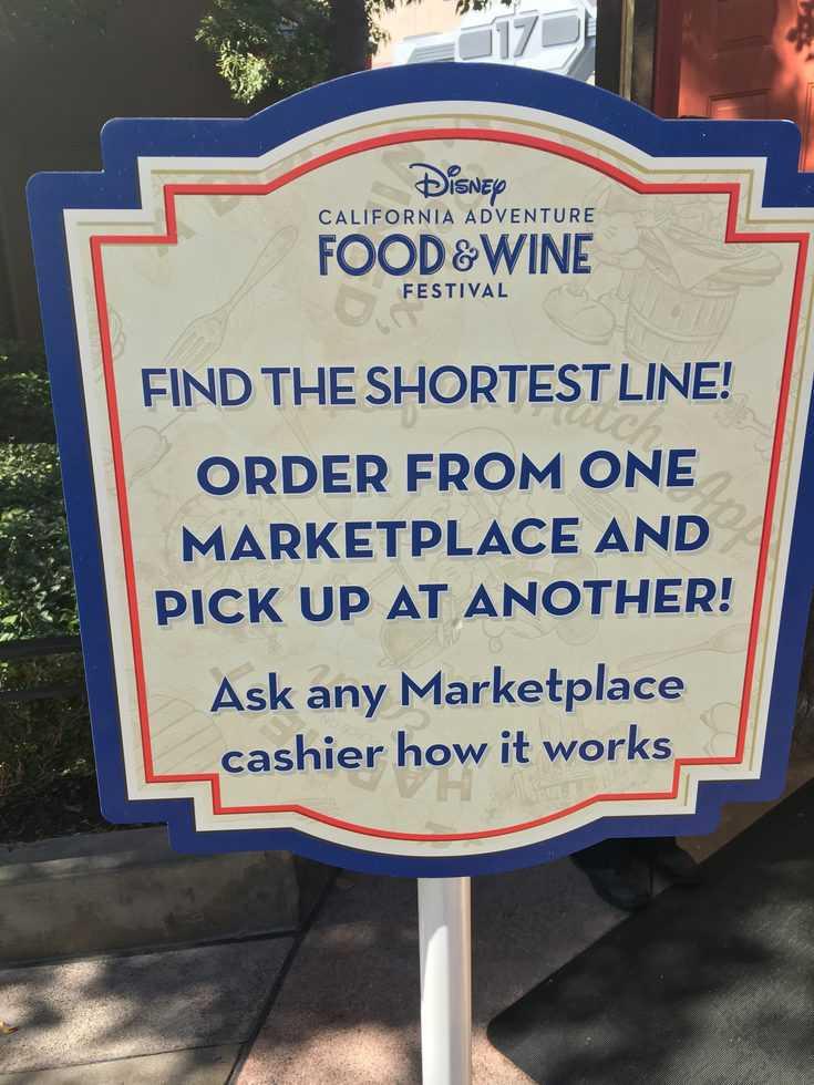 Short line Food and Wine Disney