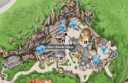 Star Wars land map
