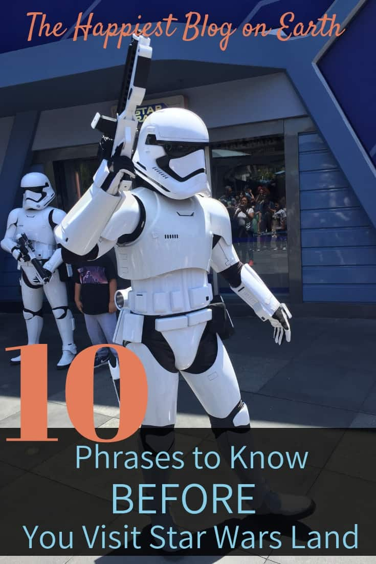 Phrases Star Wars Land