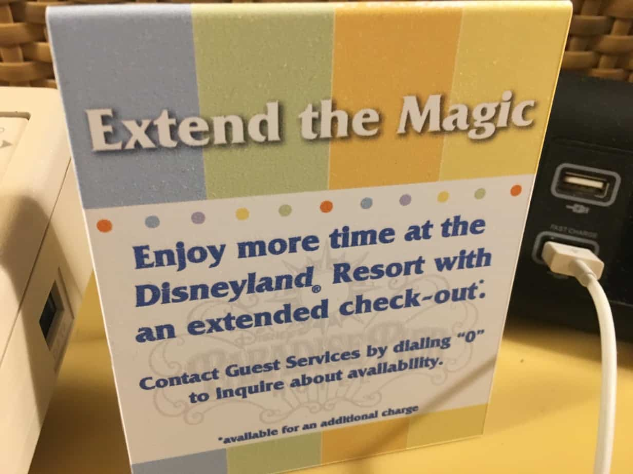 Disneyland Hotel late check out