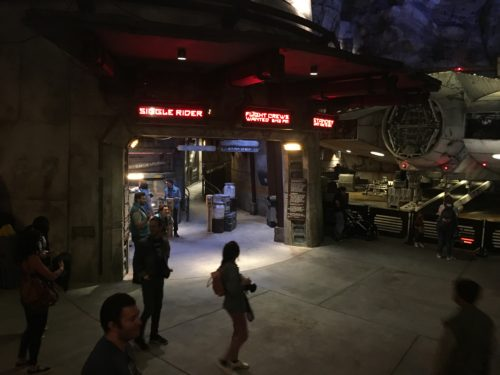Disneyland Millennium Falcon entrance