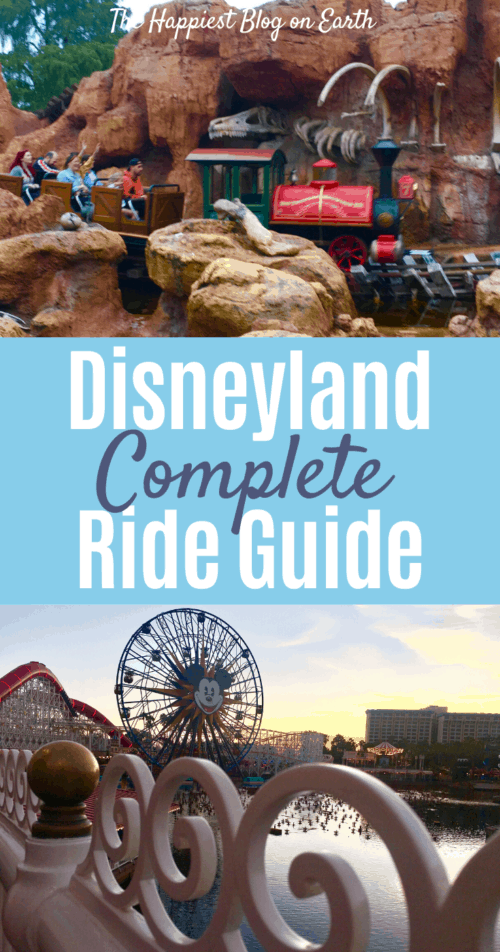 Disneyland Ride Guide