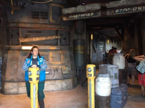 Disneyland falcon standby line