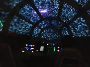 Falcon ride view night