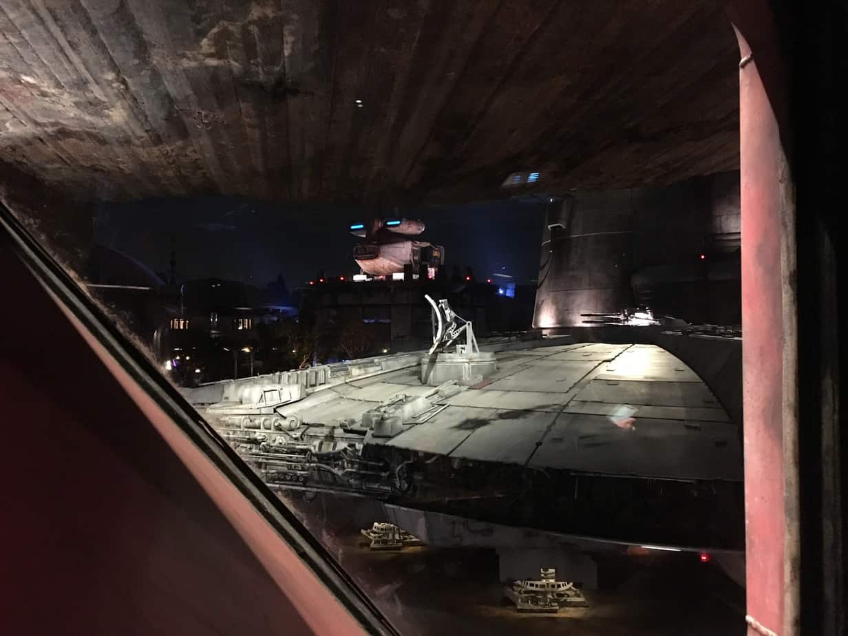 Millennium Falcon line night