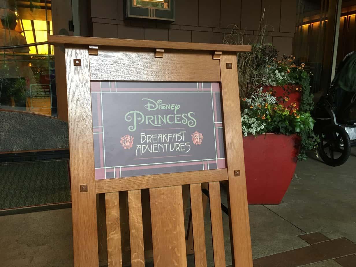 Princess breakfast napa rose grand