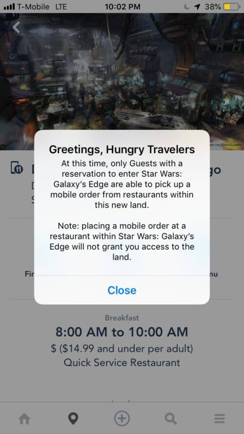 Star Wars Mobile Order