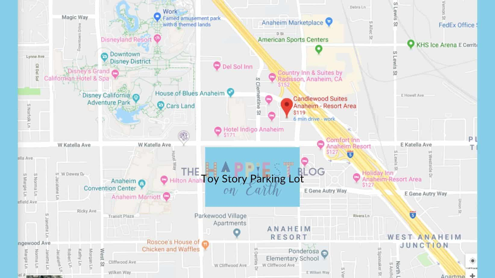 Toy Story Parking Lot Map