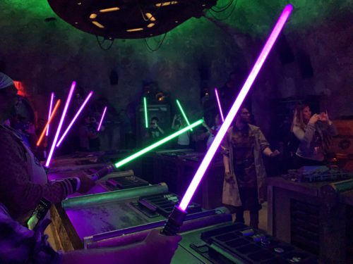 star wars land light saber