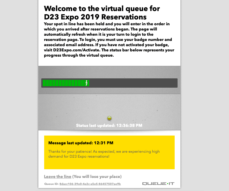 D Expo Virtual Queue