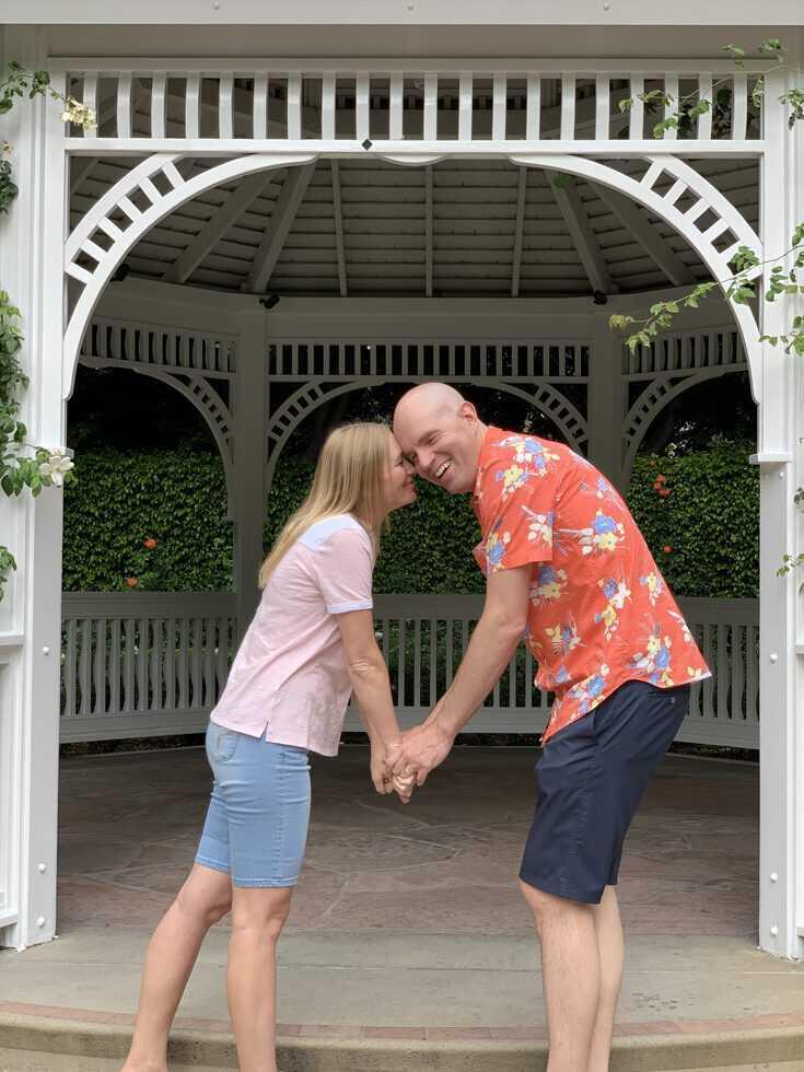 Disneyland Hotel rose garden