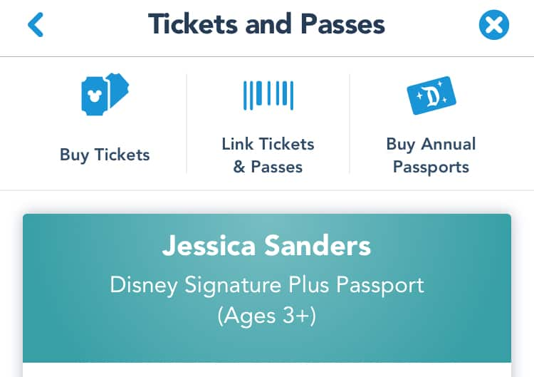 Disneyland app tickets