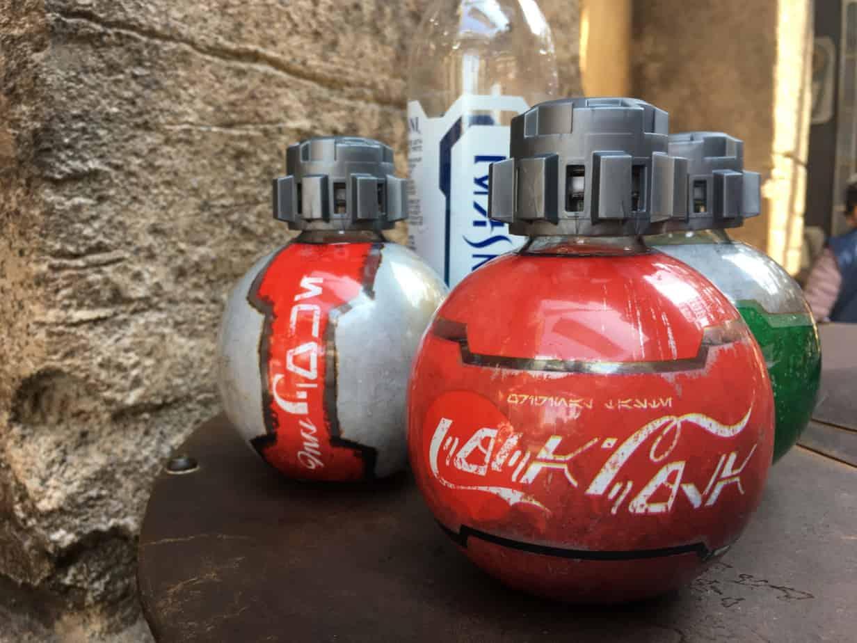 Star Wars Land coke bottles