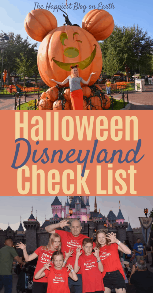 Disneyland Halloween Time check list