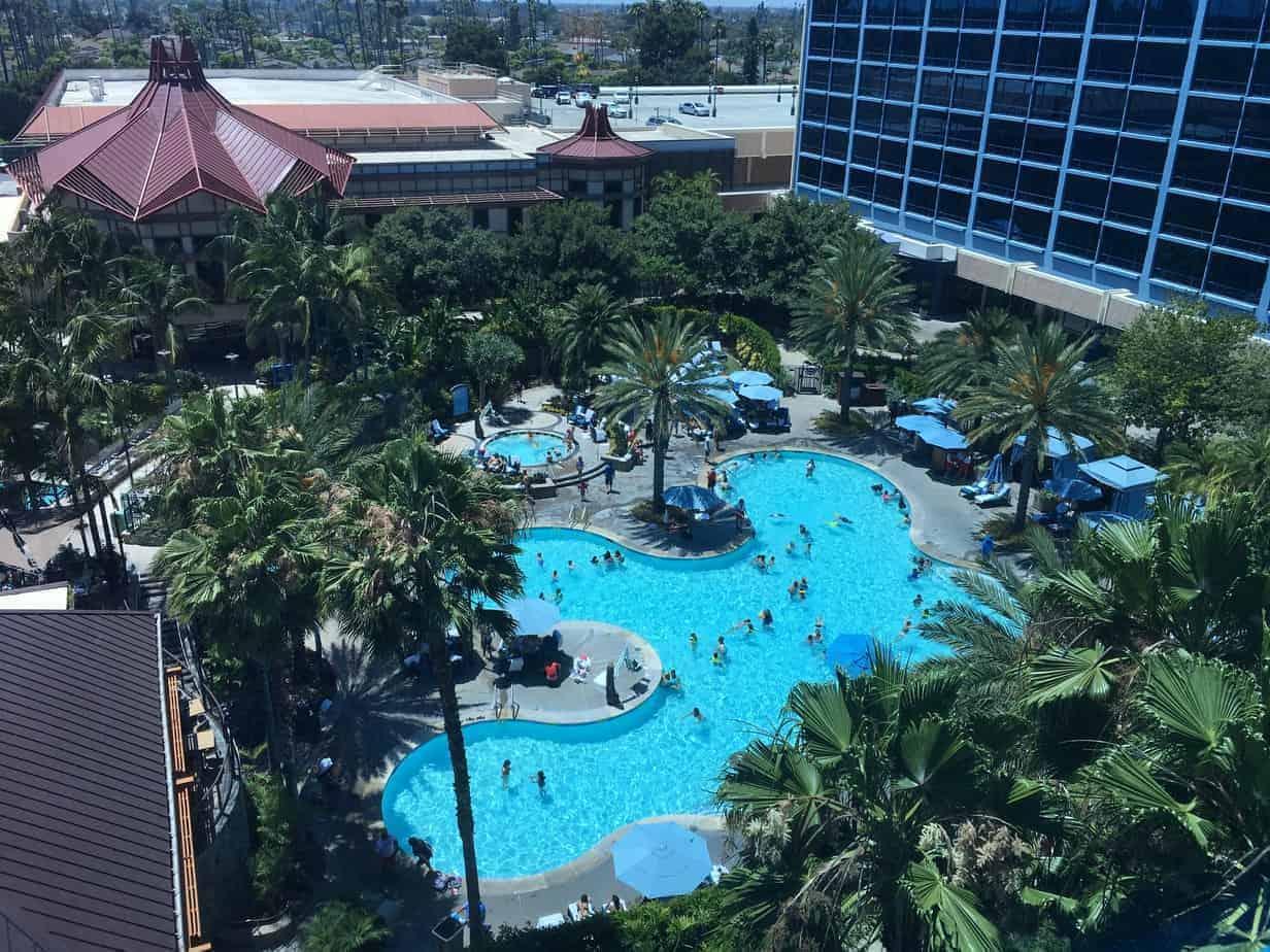 Disneyland Hotel deluxe view room