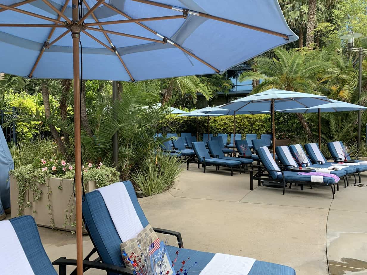 Disneyland hotel pool lounge chairs