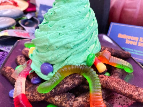 Halloween Candy Funnel Cake Fries