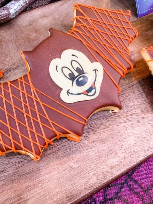 Halloween bat cookie Mickey