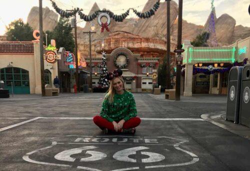 Jessica Cars Land Christmas
