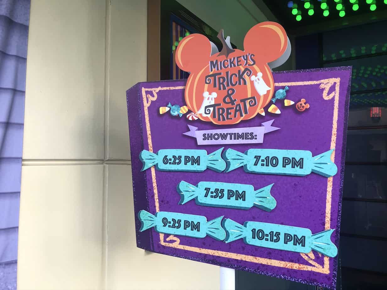 Mickeys Trick and Treat times