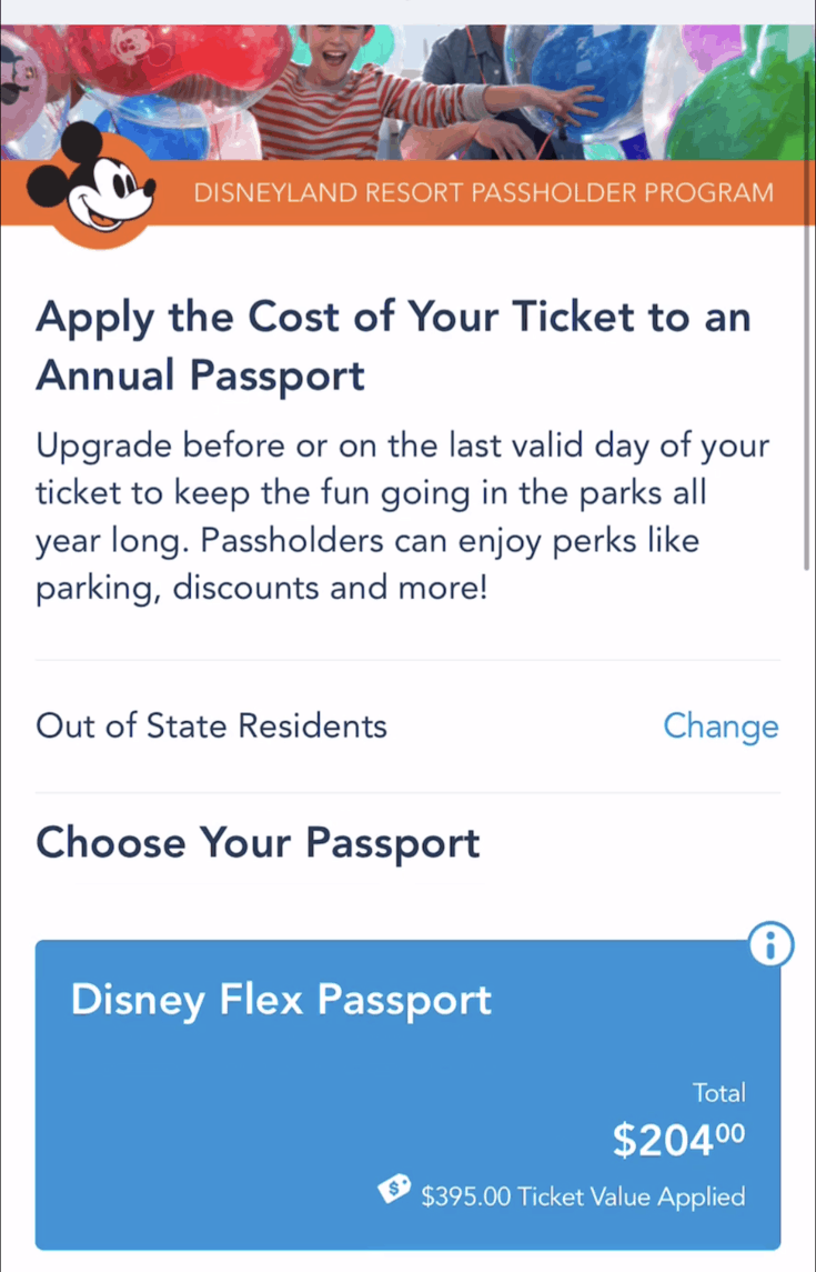 Upgrade to Annual Pass