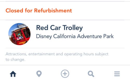 Disneyland rides closed list