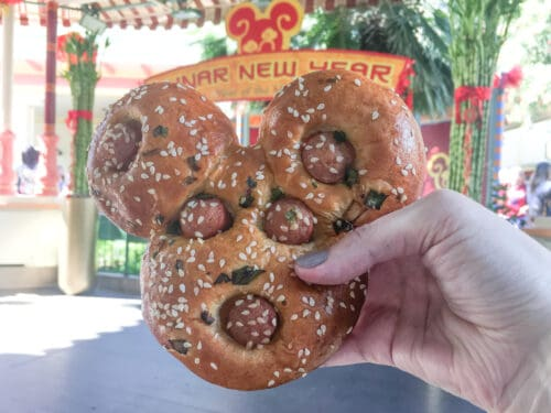 Mickey Chinese hot dog bun
