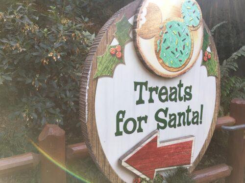 Treats for Santa sign