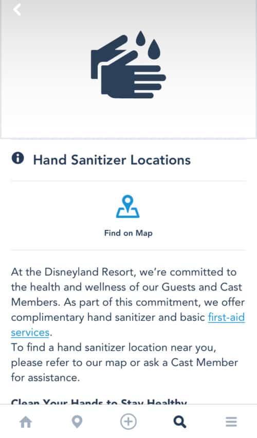 Disneyland sanitation