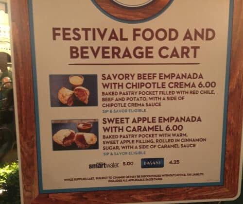 Savory Empanada with Chipotle Crema Sauce